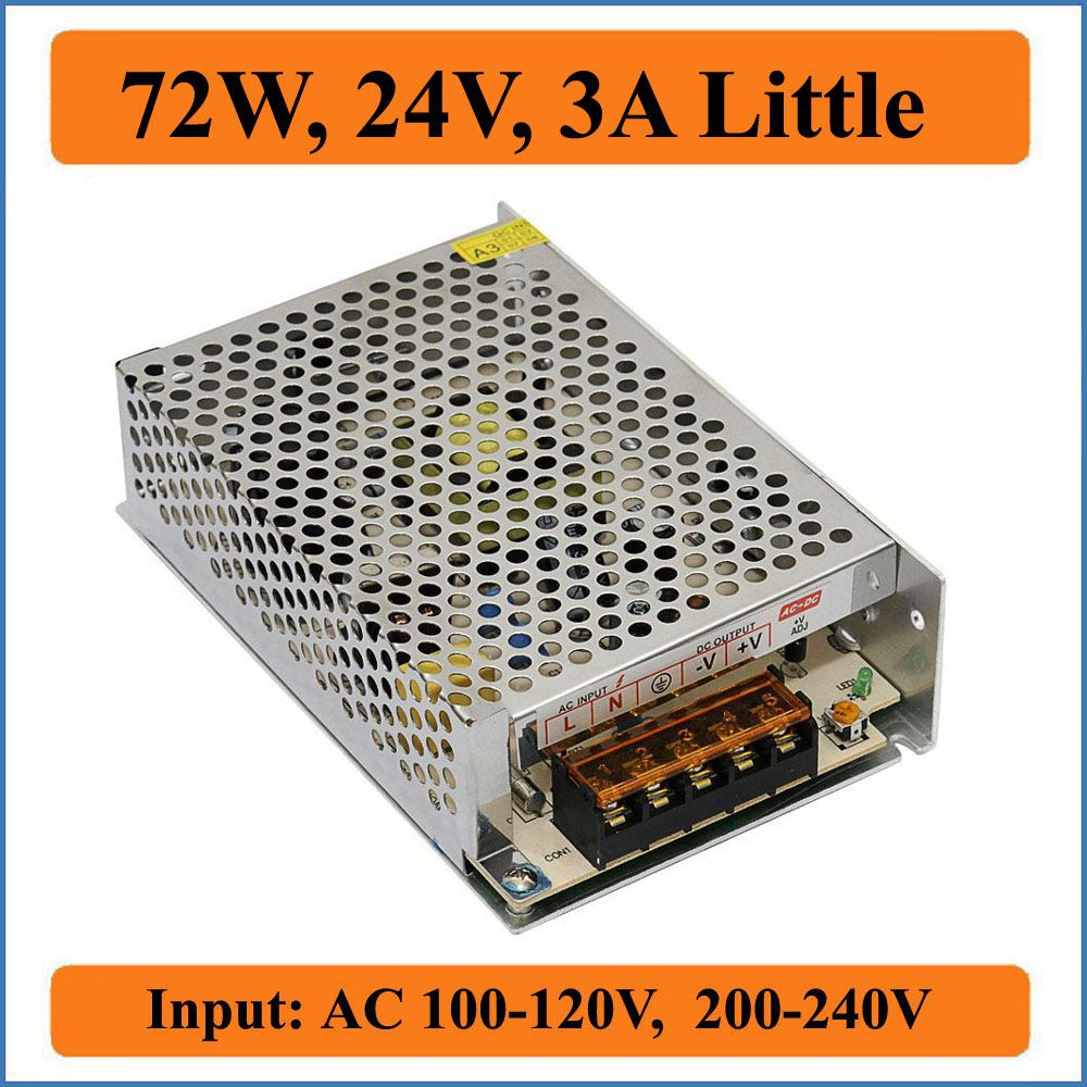 72w 24v 3a Little Switching Power Supply Ac 100 120v 200 240v Input To Single Output Dc 24v For Led Strip Lighting Led Strip Lighting Led Strip Strip Lighting