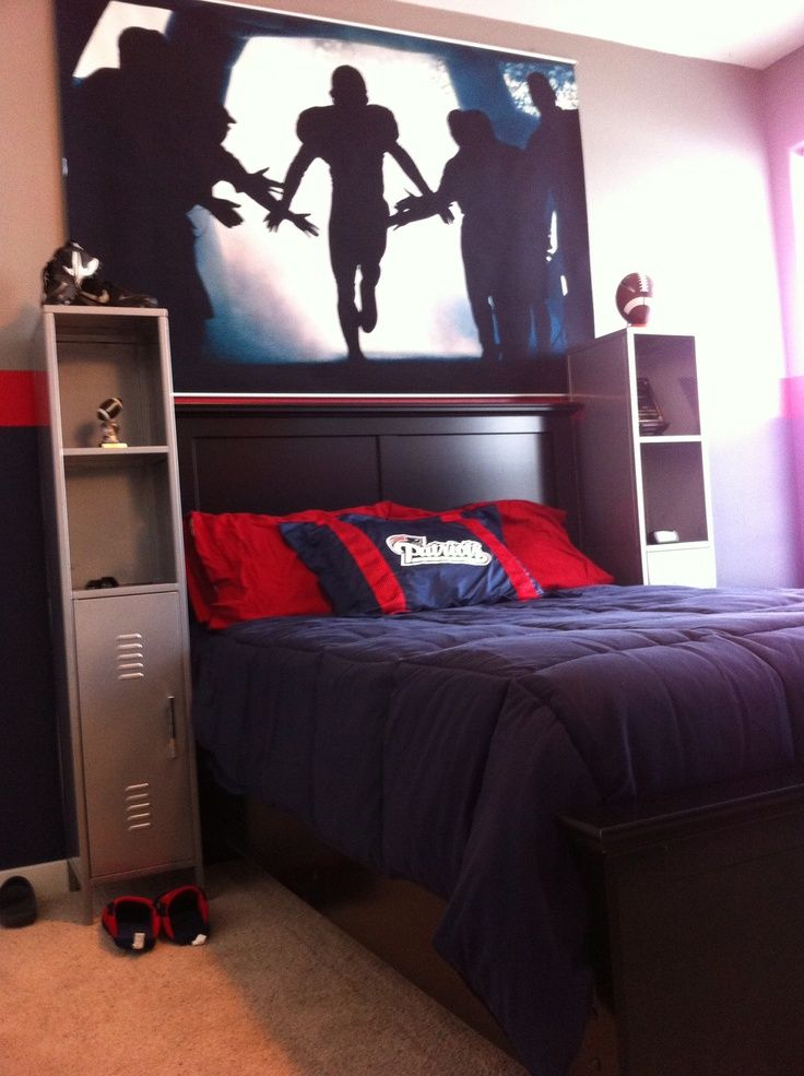 Colts Football Themed Bedroom U2013 Up By The Bay | Teen Boy Rooms, Boys Room  Design And Teen Boys