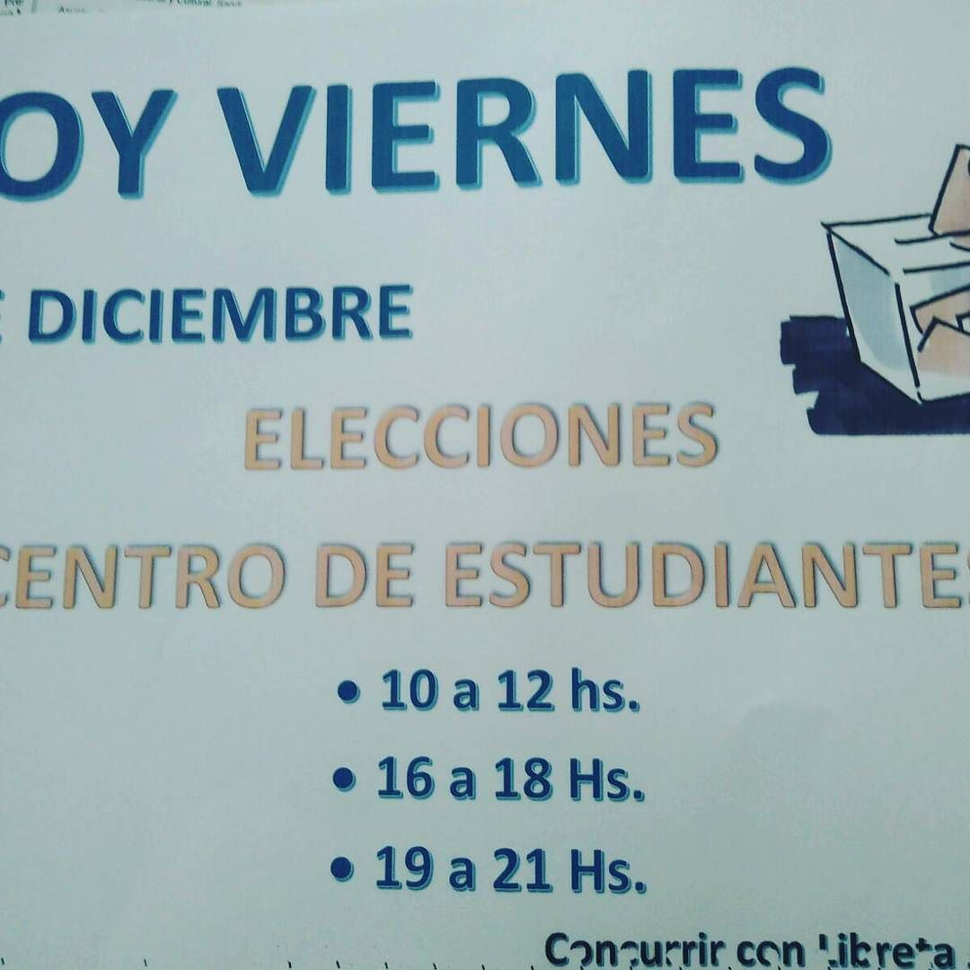 #YA hoy el instituto de formación docente #Elige #CentroDeEstudiantes