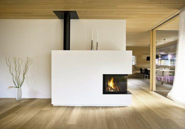 La d co avec une chemin e contemporaine chemin e chemin e contemporaine maison moderne - Cheminee interieur maison ...