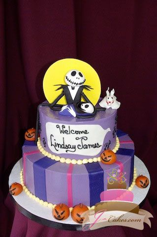 Exceptional (214) Nightmare Before Christmas Baby Shower Cake