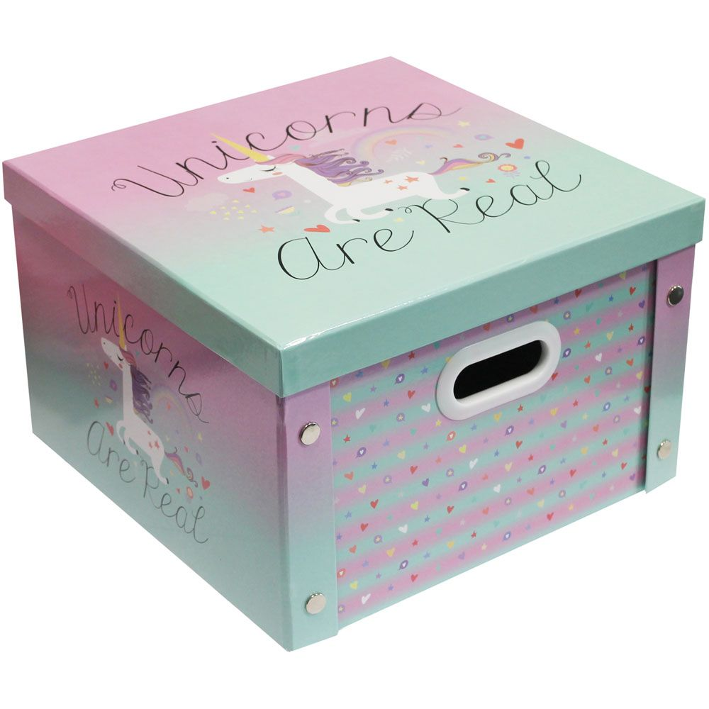 Buy Unicorns Are Real Collapsible Storage Box Online From The Works. Visit  Now To Browse Our Huge Range Of Products At Great Prices.