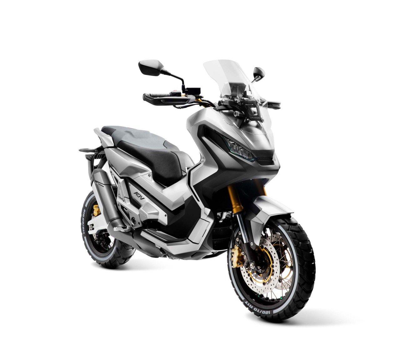 City Adventure Concept Moto Honda Honda City и Motorbike