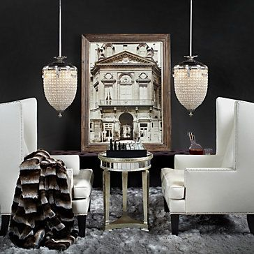 Borghese Mirrored End Table Mirrored Furniture