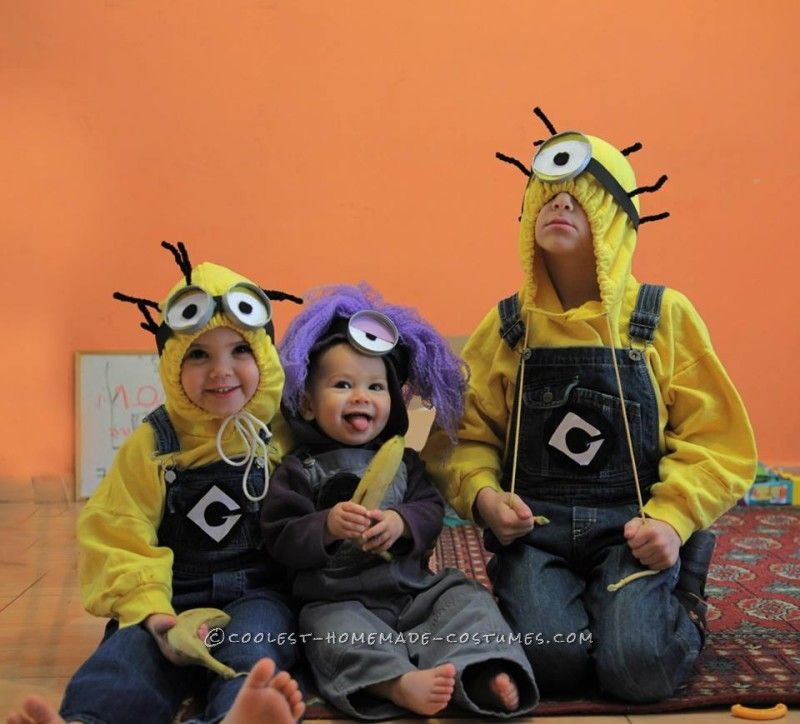 Awesome Homemade Despicable Me 2 Family Costume  sc 1 st  Pinterest & Awesome Homemade Despicable Me 2 Family Costume | Costumes