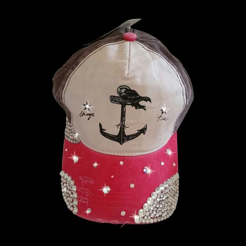 Hidden Gem Designs Sparkle Decorated Baseball Caps  c3a357af0f1