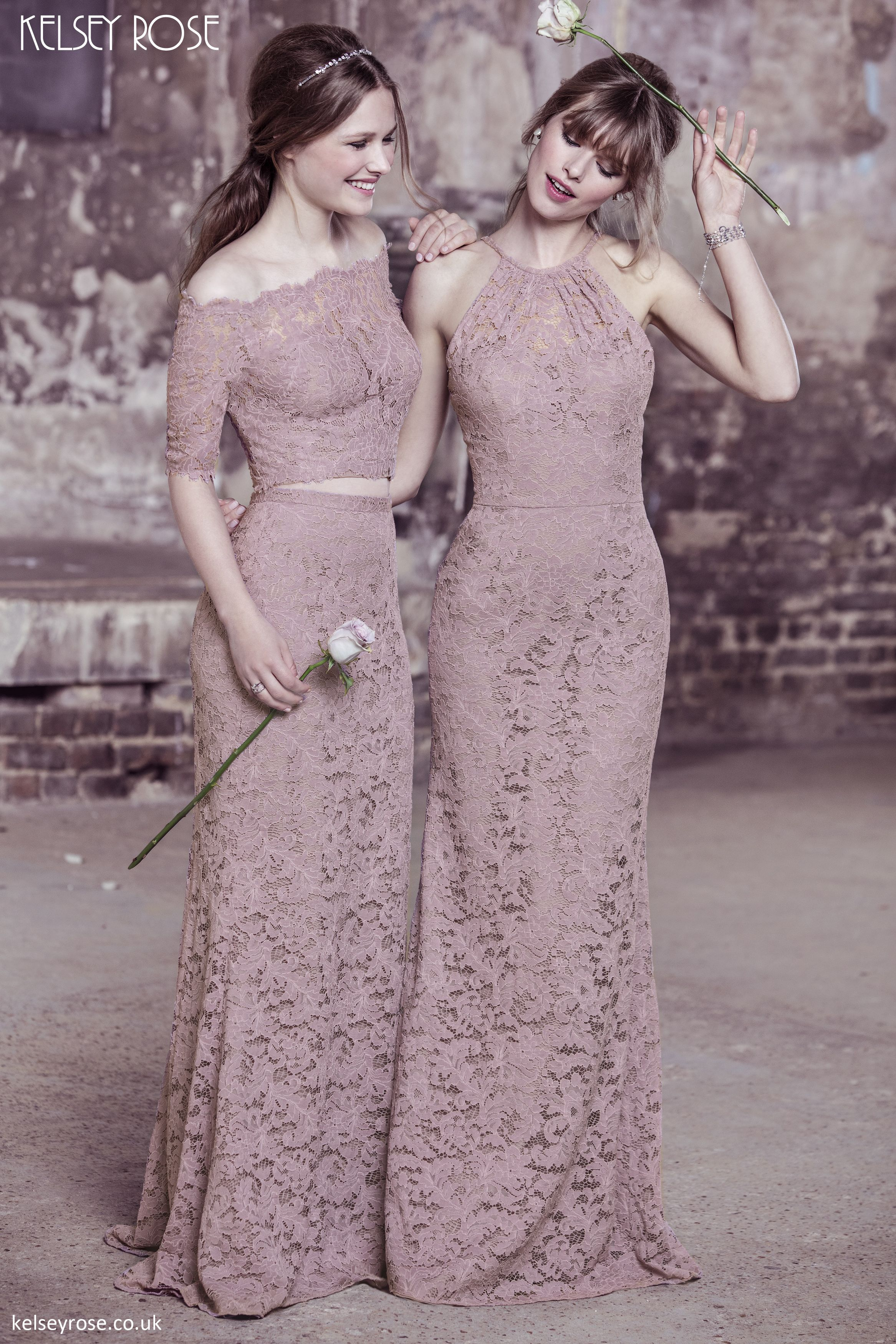 Lace dress rose  Kelsey Rose  Beautiful dusty pink lace dresses and twopieces