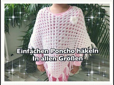 Super Einfachen Poncho Häkeln Granny Poncho Häkeln Kinderponcho