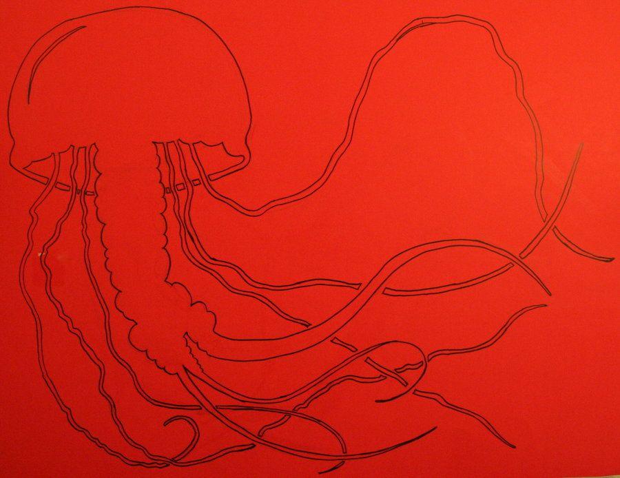Jellyfish Stencil Line Art