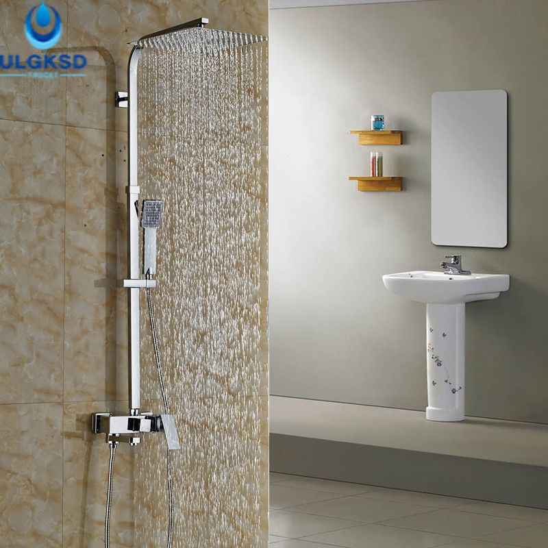 Cheap Bath Shower Mixers, Buy Quality Shower Mixer Directly From China Shower  Faucets Suppliers: ULGKSD Chrome Bath Single Handle Shower Faucet Wall  Mount ...