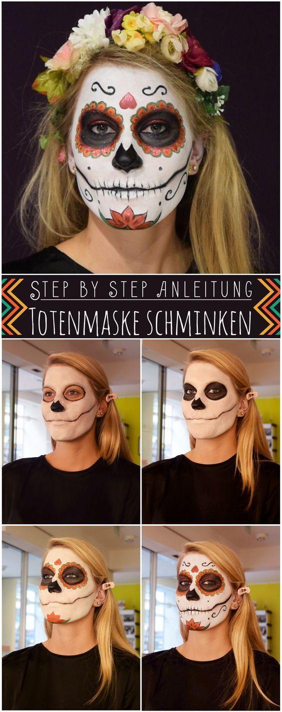 Totenmaske schminken: Step by Step Anleitung