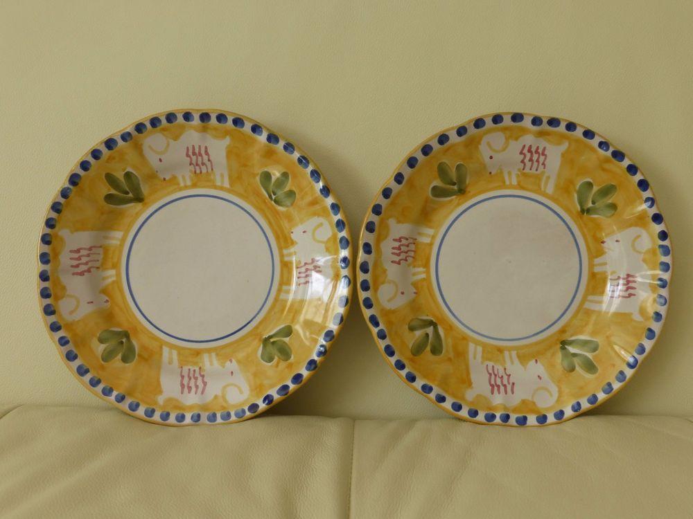 vietri bird Vintage plates solimene