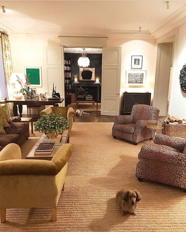 Aerin Lauder Residence Nyc Jacques Grange Via Instagram House Interior Aerin Lauder Celebrity Houses