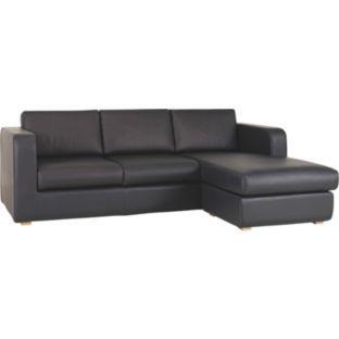 Buy Habitat Porto Leather Reversible Chaise Sofa Black At Argos
