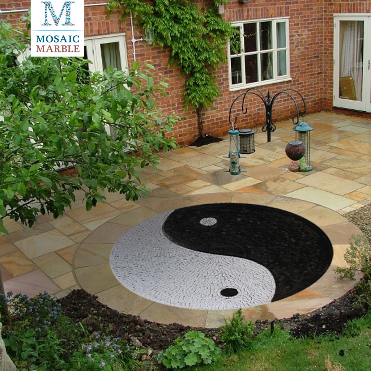 how to design a ying yang garden | with the use of larger rocks