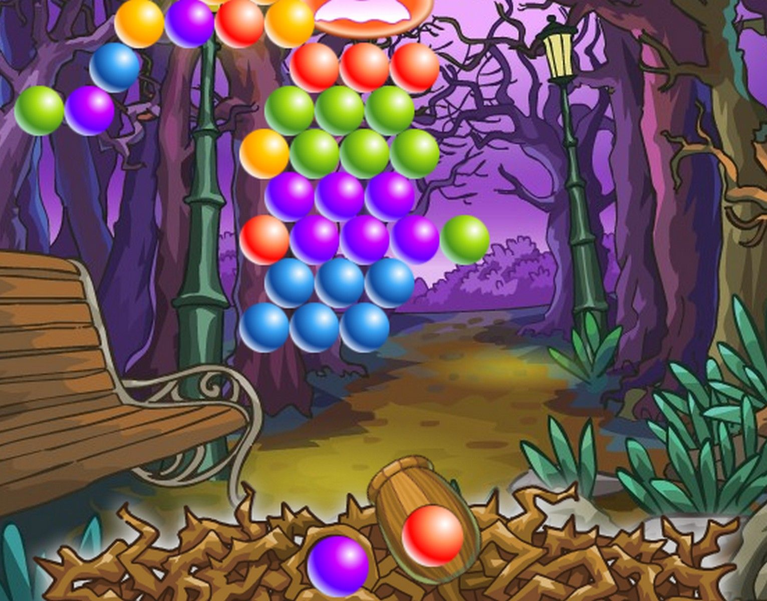 Remove all the ghosts in this halloween bubble shooter