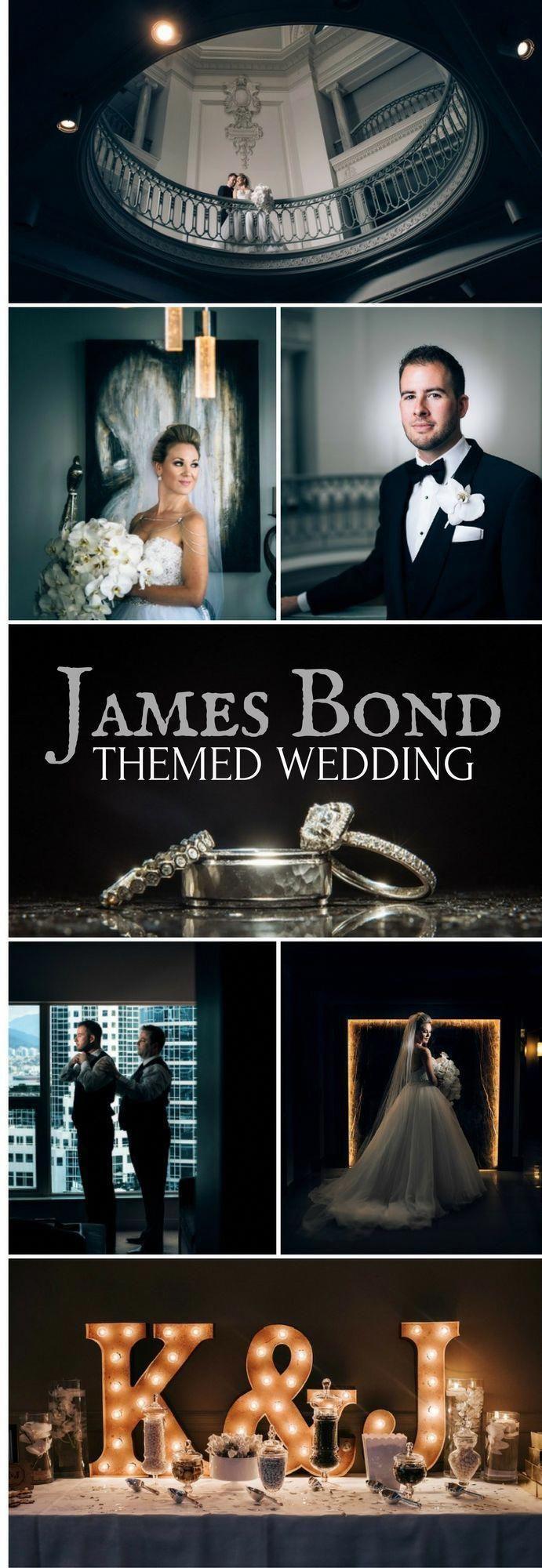 James bond themed wedding elegant and romantic movie inspired