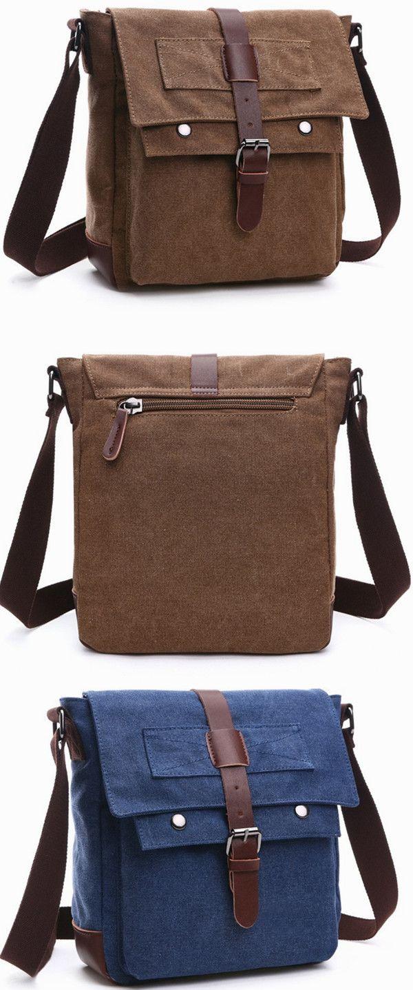 cbaca2403c9d Vintage Canvas Shoulder Bag Messenger Bag ipad Bag Work Bag Business Bag  Purse School Bag Book Bag Daypack Bag Multifunction Bag Handbag Crossbody  Bag ...