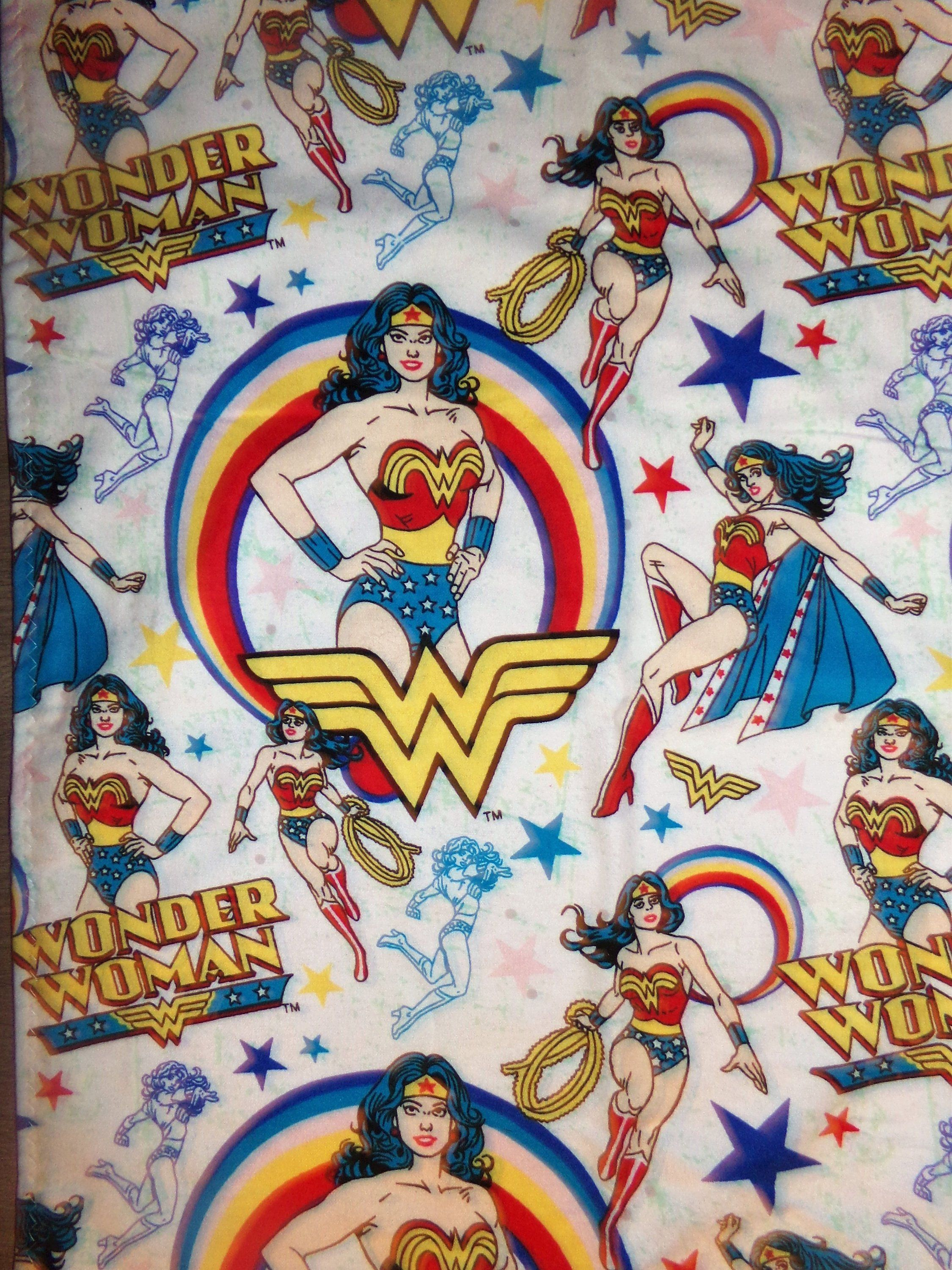 DC Wonder Woman Twin Baby Blanket Throws Car Seat Or STroller Covers Flannel By PersonalityShop On Etsy