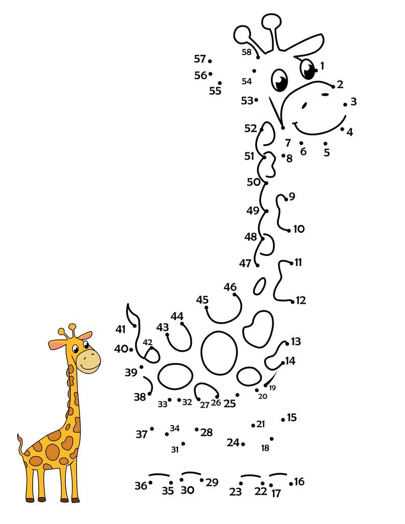 Printable Dot To Dot Animal Safari Coloring Pages Dot To Dot Activities For Kids Kindergarten Coloring Pages Zoo Coloring Pages Giraffe Coloring Pages [ 1028 x 794 Pixel ]