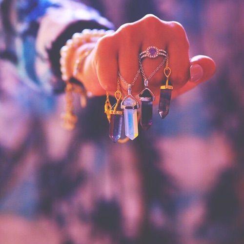 purple and orange rings image via we heart it crystal cute fashion gemstones girl