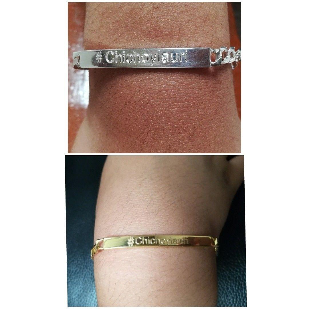 1fb88f297c71 Regalo para parejas. Esclavas en plata y plata bañada en oro de 24 k y  marcadas