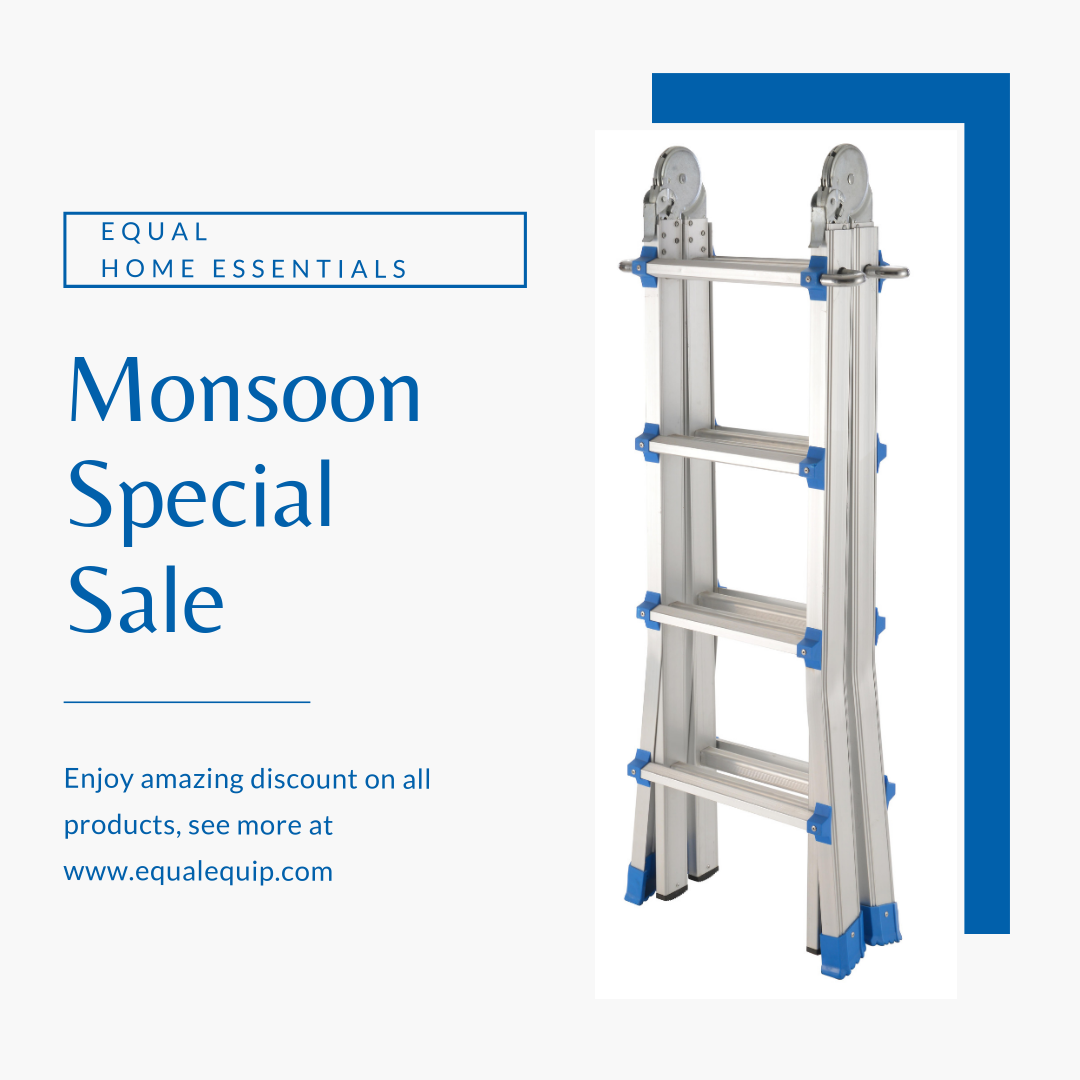 Enjoy Monsoon Sale Get Amazing Discount On All Equal Products Equalonline Aluminumladder Multipurposeladde Aluminium Ladder Multi Purpose Ladder Ladder