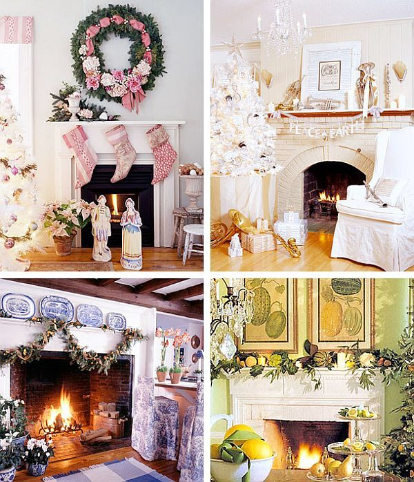 40 Christmas Fireplace Mantel Decoration Ideas Mantle, Mantels and