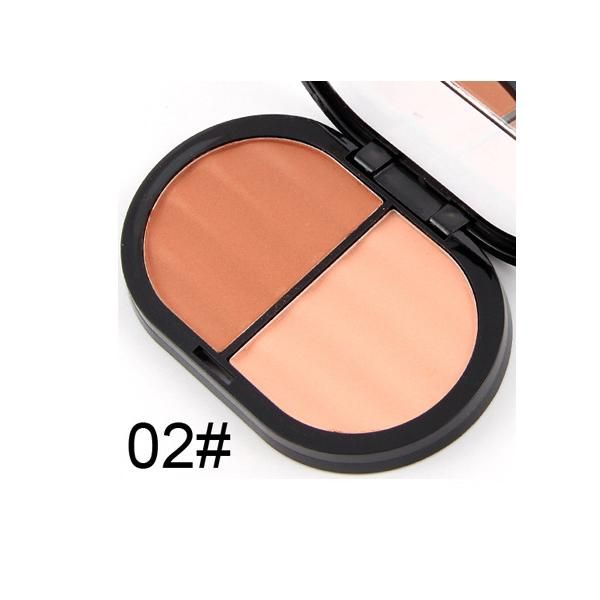 Miss Rose Makeup Kit Brand Cosmetics Face Blusher Contouring Minerals 2 Color Face Contour Makeup Bronzer Blush Powder Palette