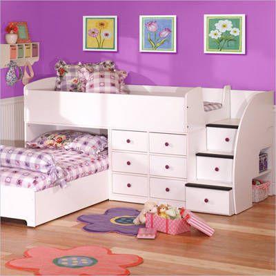 Camas de dos pisos o literas para ni os decoraci n y - Camas para ninos pequenos ...