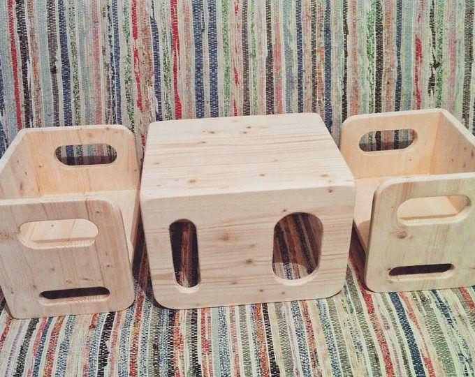 Montessori Kletterbogen : Ella adams montessori cube chair