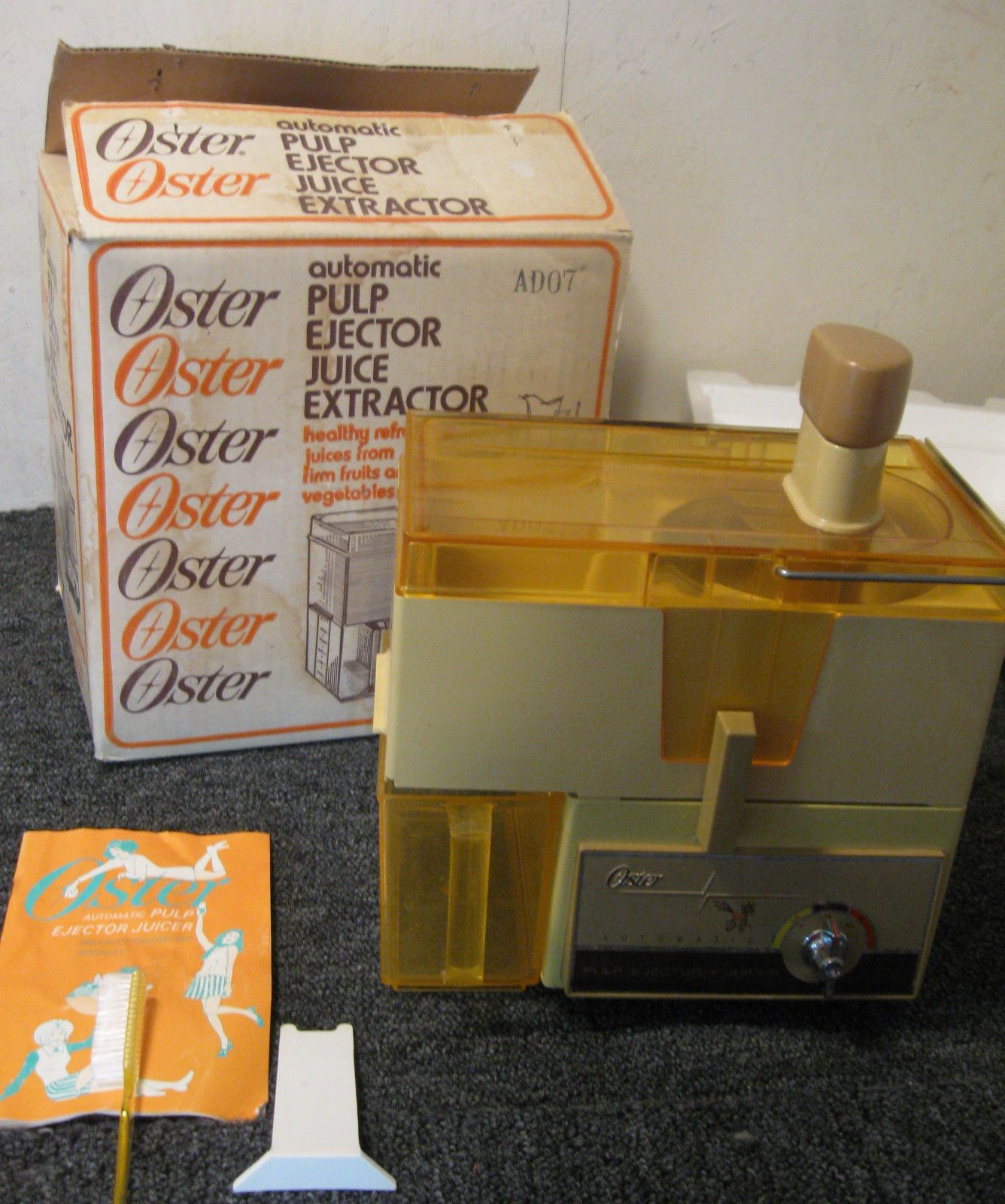 Vintage Oster 362 04 Frutas Verduras Exprimidor de trabajo completo en caja Pulp eyector   eBay
