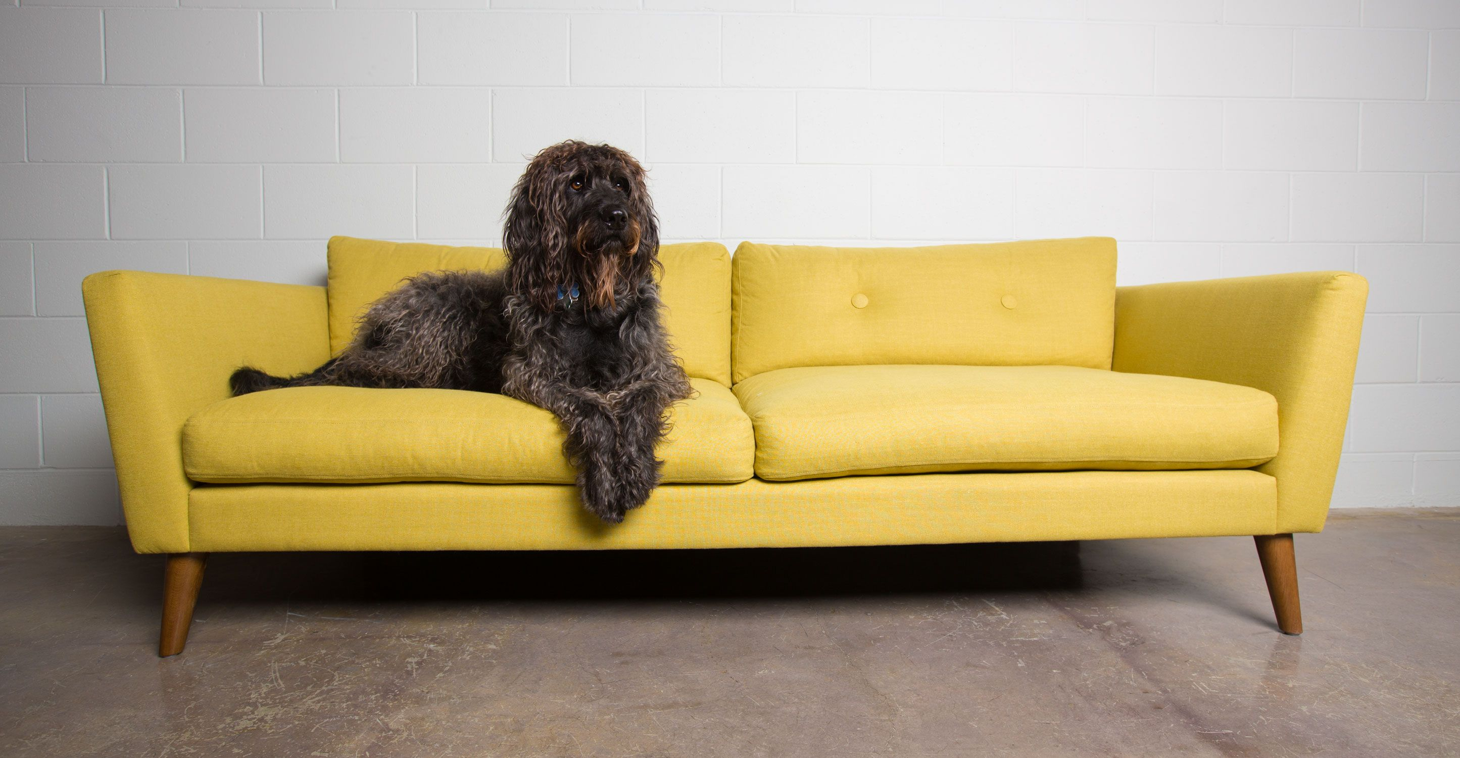 Emil Chartreuse Yellow Sofa Sofas & Ottomans Bryght