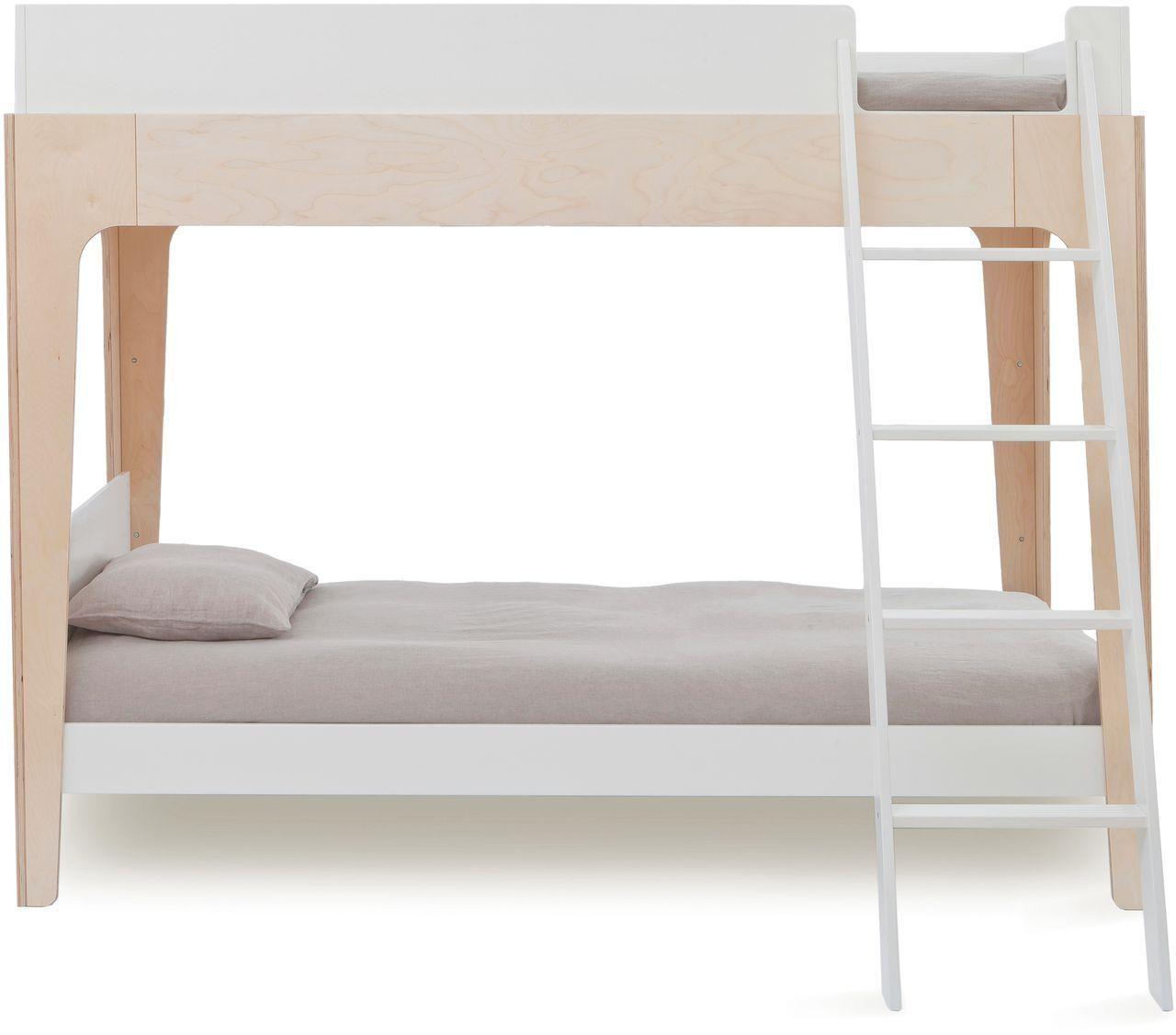 Oeuf Hochbett Etagenbett Perch 90x200cm Weiss Birke Moderne