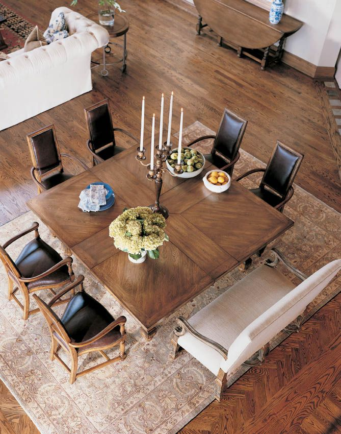 Century furniture infinite possibilities unlimited for Small square dining room