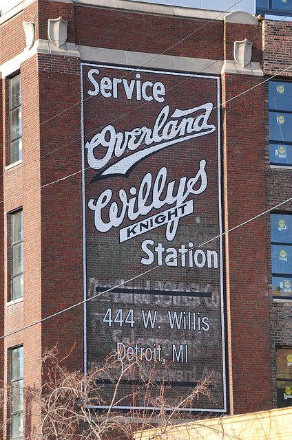 Overland Willys Sign Off Cass Detroit Willys Overlanding
