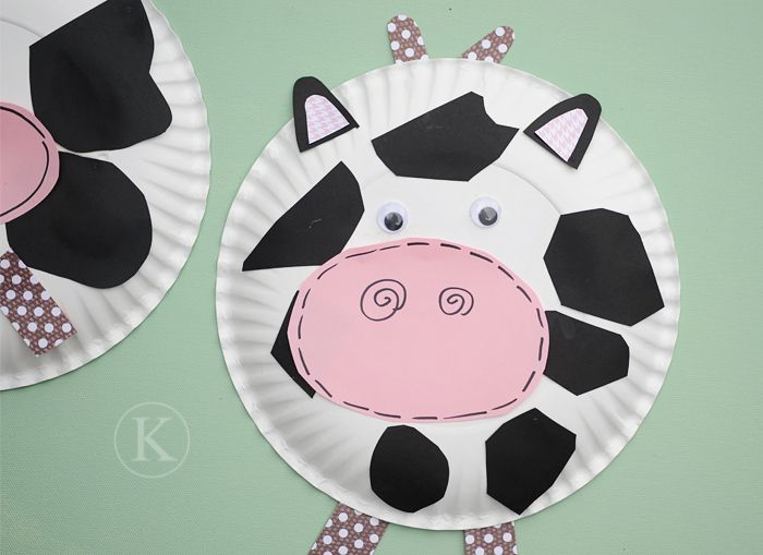 Paper plate cow-Letter C & Cute cow copyright-katherine-marie-081412c   Time to get messy ...