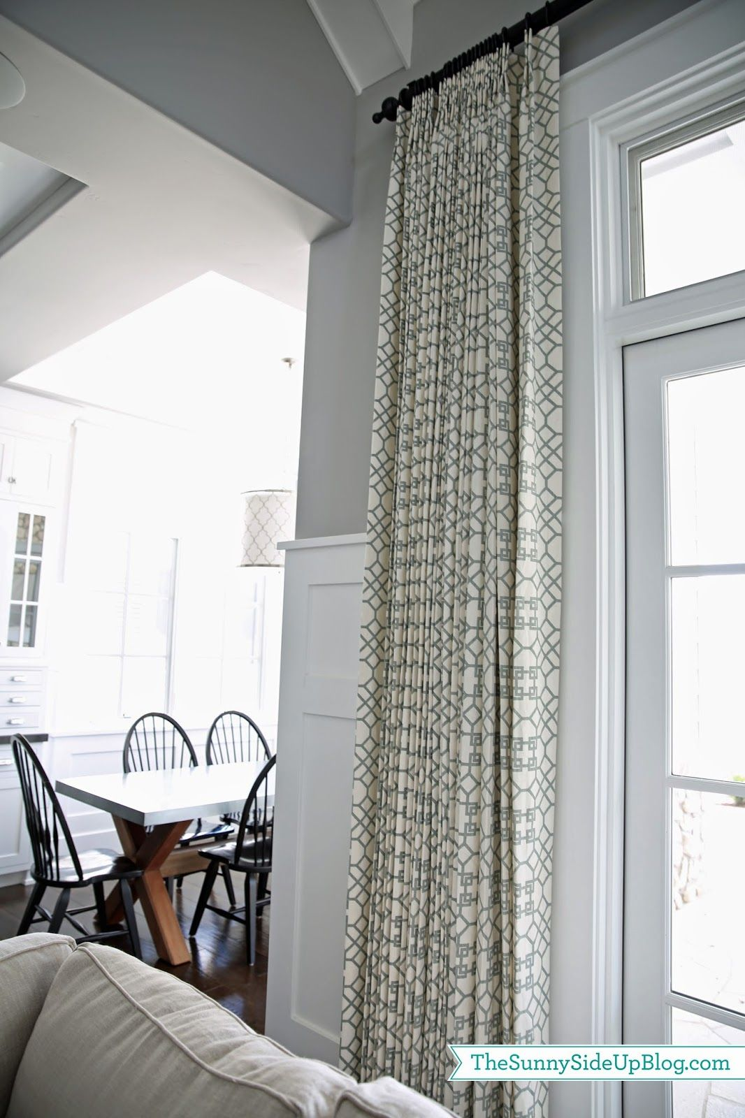 Sunny side up family room drapes pillows