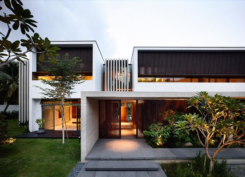 A Contemporary Addition And Remodel For A House In Singapore - moderne huser 2015
