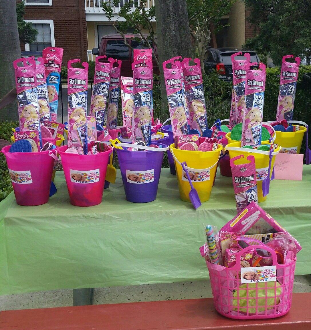 Barbie Pool Party Favors Idea