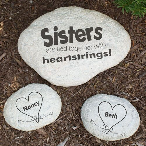 Personalized Engraved Sisters Garden Stone Memorial Sympathy For Family Pinterest