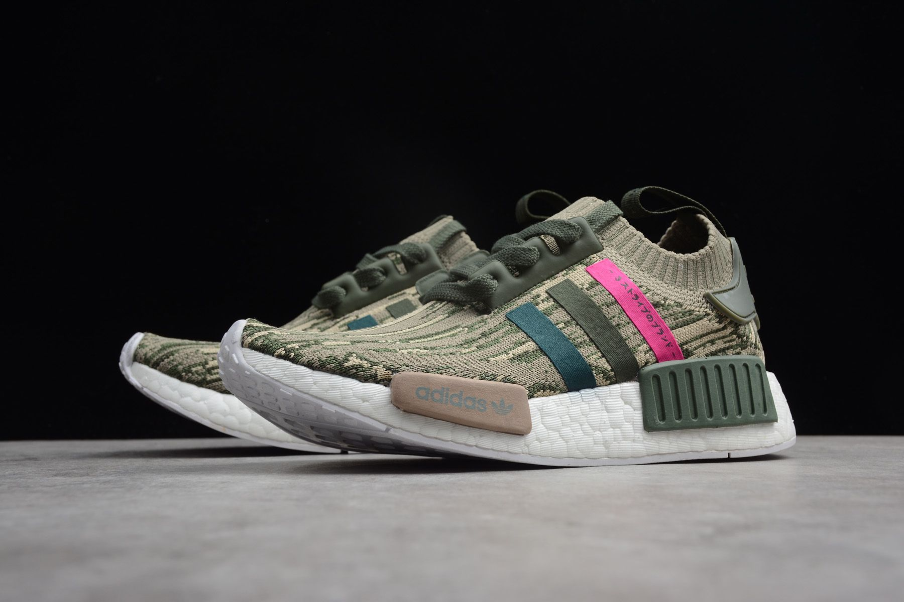 df9a733db adidas NMD R1 Primeknit Green Night Shock Pink BY9864 in 2019