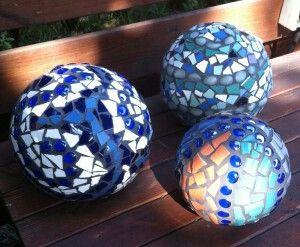 Mozaiek ballen voor buiten.