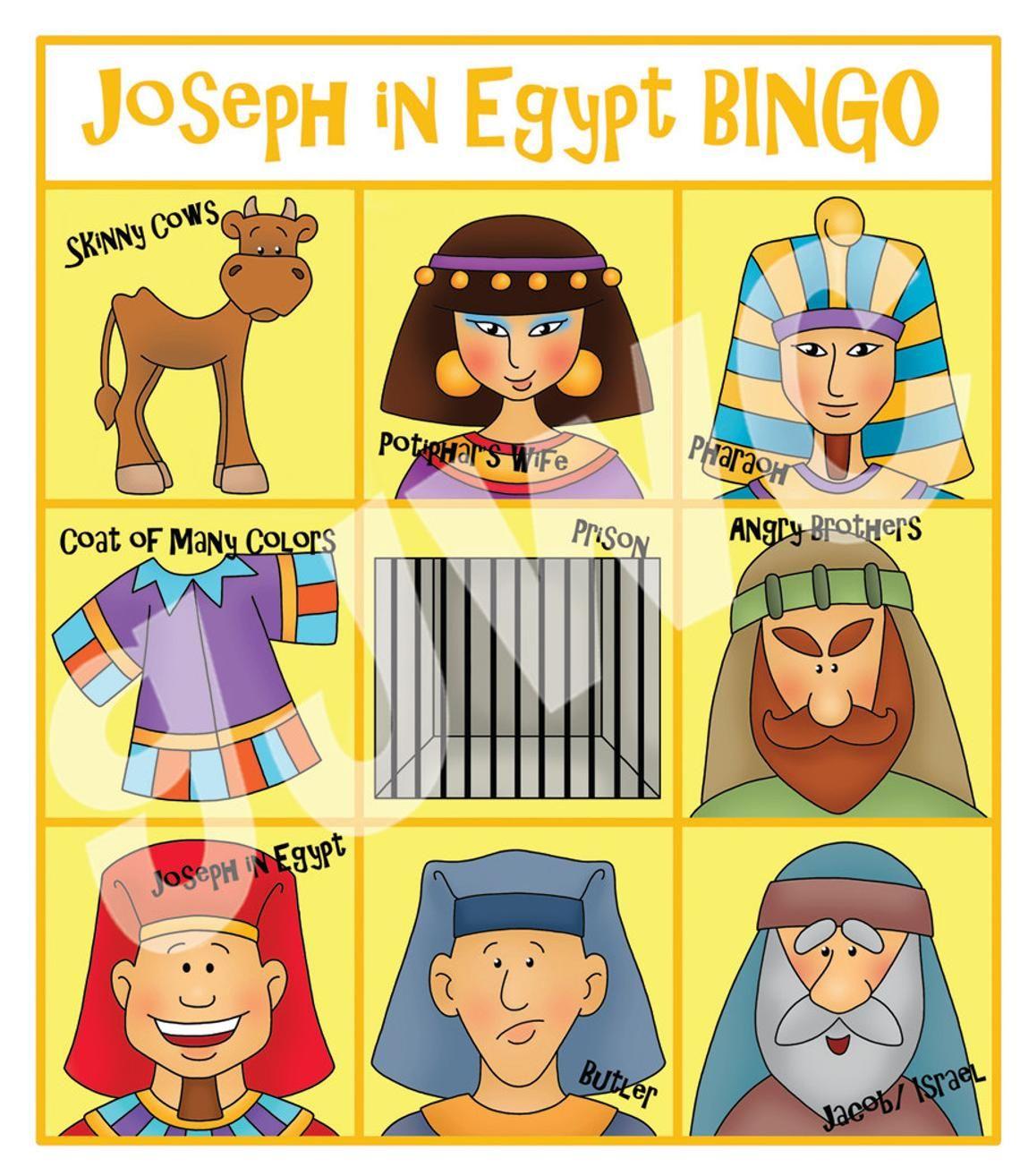 JOSEPH in Egypt BINGO Downloadable PDF Only Joseph in