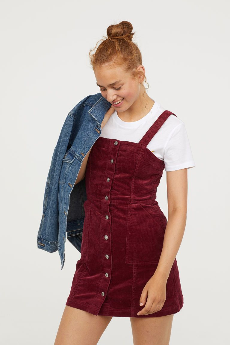 a785e53921 Bib Overall Dress in 2019 | s t y l e | Dungaree dress, Dresses ...