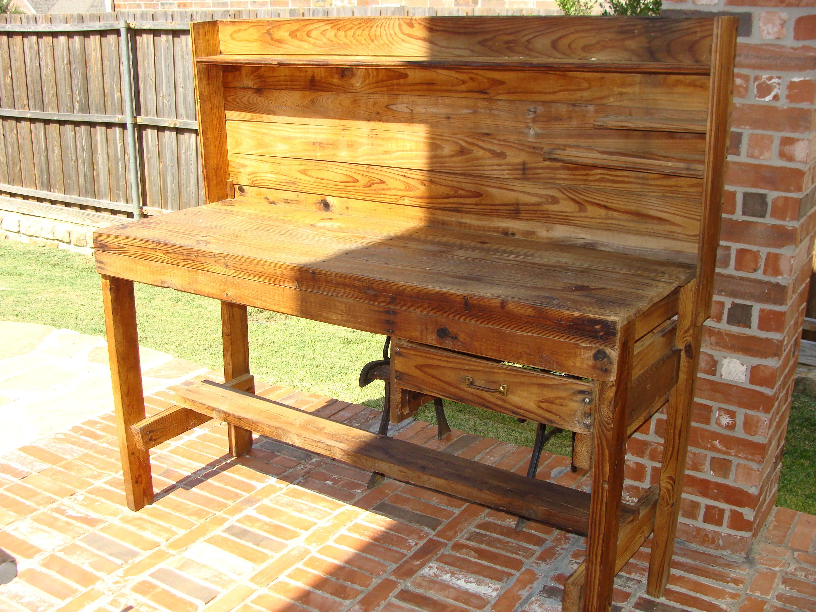 Diy Potting Bench Plans Family Handyman Wooden Pdf