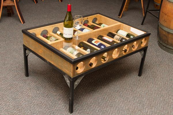 Wine Bottle Gl Display Coffee Table Tables