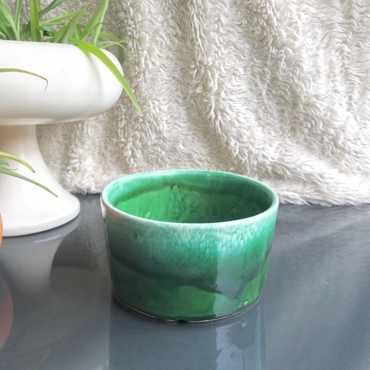 Vintage flower pot planter pottery mid century ceramic planter