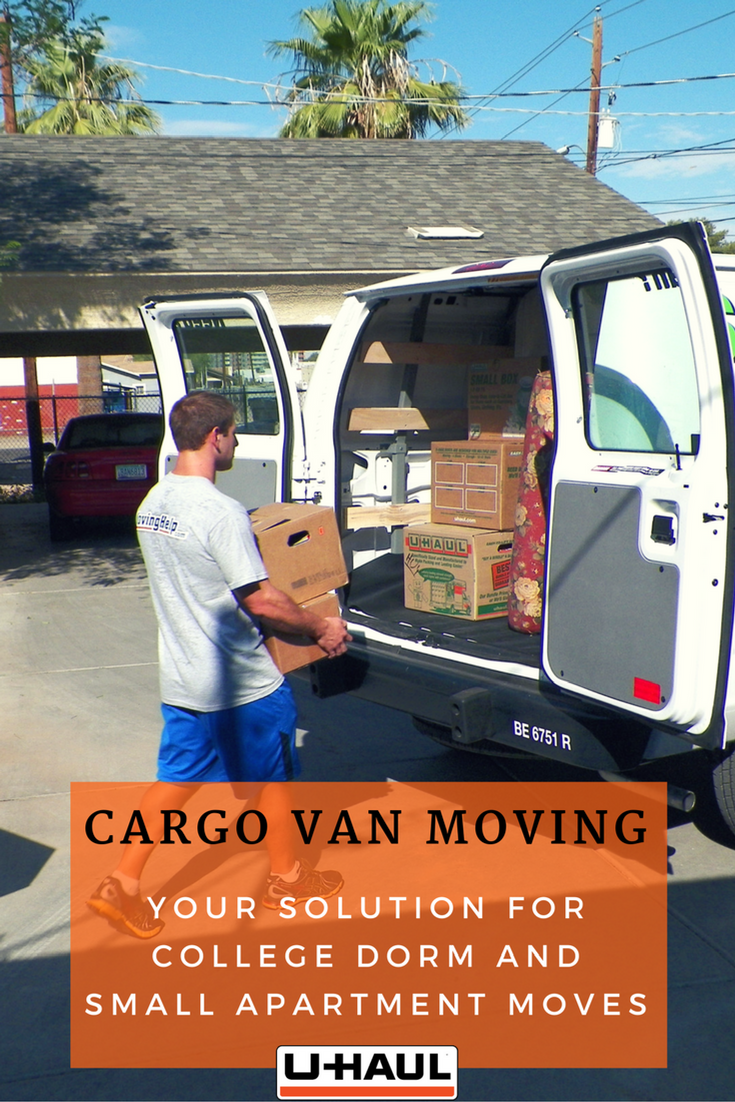 U Haul Cargo Vans Are Perfect For Your Smaller Local Moves Such As A College Dorm Or Studio Apartment They Have Tie Downs And Rub Cargo Van Cargo Rental Vans