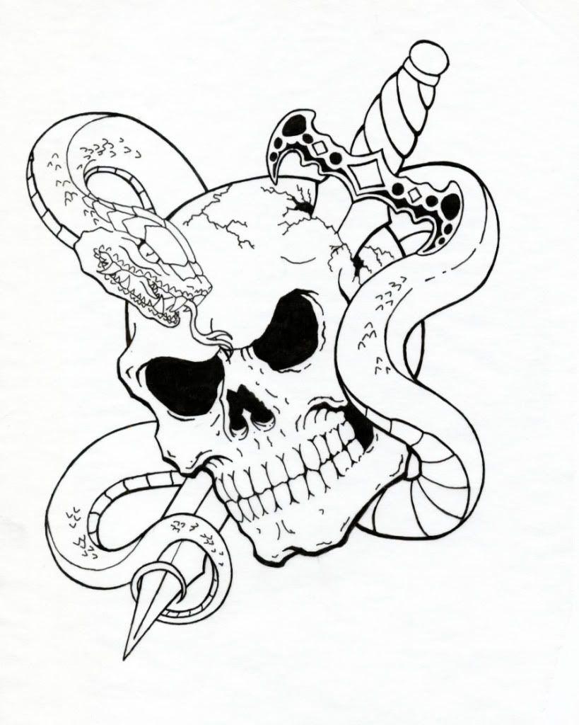 Pin De David Galicia En Design Tatuajes Calavera Pirata Tatuaje Espada Tatuaje De Serpiente
